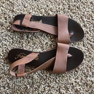Free People Tan Sandals